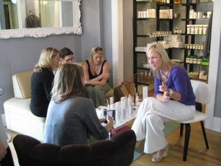 Clients were walked through Leonor Greyl's full line of products and treatments